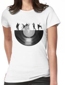 Vinyl music art Womens Fitted T-Shirt