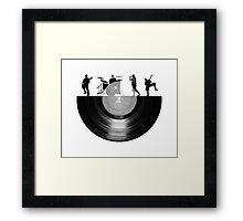 Vinyl music art Framed Print