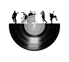 Vinyl music art Photographic Print