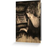 The Pianist Greeting Card