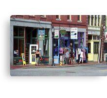 Portland, Maine - Shops Canvas Print