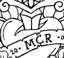 My Chemical Romance Pop Punk Heart and Dagger (Black) Sticker