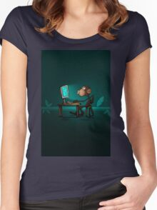 Monkey Jenius Women's Fitted Scoop T-Shirt