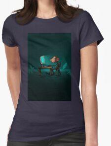Monkey Jenius Womens Fitted T-Shirt