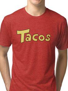 DBZ- Krillin's 'Tacos' Shirt. Tri-blend T-Shirt