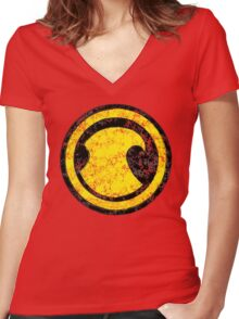 Red Robin - DC Spray Paint Women's Fitted V-Neck T-Shirt