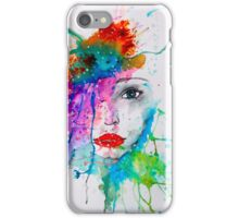 Abstract Watercolor Portrait iPhone Case/Skin