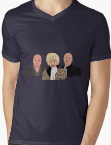 Peggy and her boys.  Mens V-Neck T-Shirt