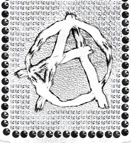 A for anarchy Sticker