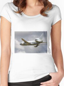 Lockheed TriStar K.1, ZD950, No.216 Sqn Women's Fitted Scoop T-Shirt
