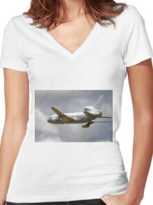 Lockheed TriStar K.1, ZD950, No.216 Sqn Women's Fitted V-Neck T-Shirt