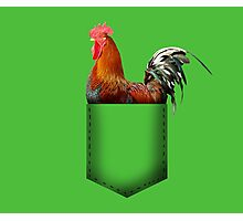Rooster pocket Photographic Print