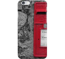 Red post box iPhone Case/Skin