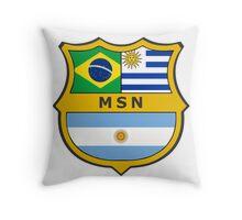 Messi, Suarez, Neymar Throw Pillow
