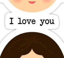 "Leia and Han Solo ""I love you"" ""I know"" - Star Wars Sticker"