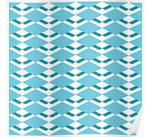 Pattern with diamonds Poster