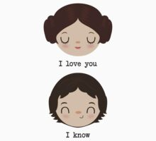 "Leia and Han Solo ""I love you"" ""I know"" - Star Wars One Piece - Short Sleeve"