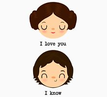 "Leia and Han Solo ""I love you"" ""I know"" - Star Wars Unisex T-Shirt"