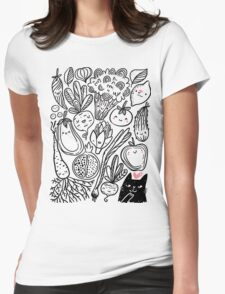Funny vegetables Womens Fitted T-Shirt