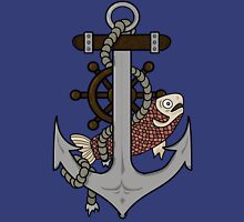 Anchor, helm and fish T-Shirt