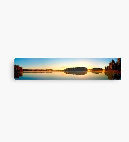 Sweden - Morning at the Virserum lake Canvas Print