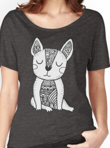 Doodle french bulldog Women's Relaxed Fit T-Shirt