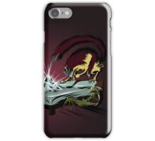 Scary monsters in dark room iPhone Case/Skin