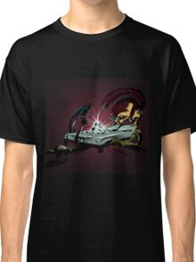 Scary monsters in dark room Classic T-Shirt