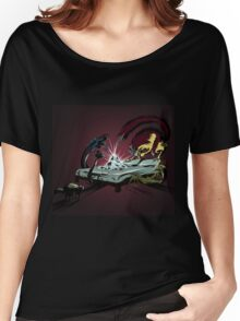 Scary monsters in dark room Women's Relaxed Fit T-Shirt