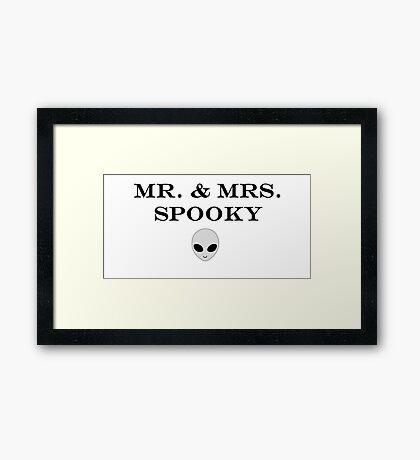 Mr. & Mrs. Spooky Framed Print