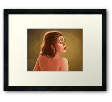 Portrait of a Princess Framed Print