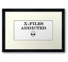 X-Files Addicted Framed Print
