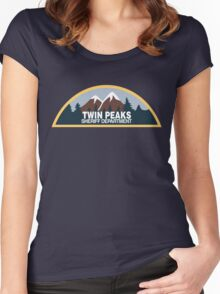 Twin Peaks- sheriff department Women's Fitted Scoop T-Shirt