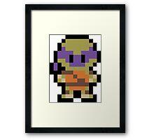 Pixel Donatello Framed Print
