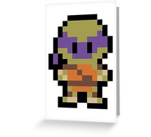 Pixel Donatello Greeting Card