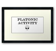 Platonic Activity Framed Print