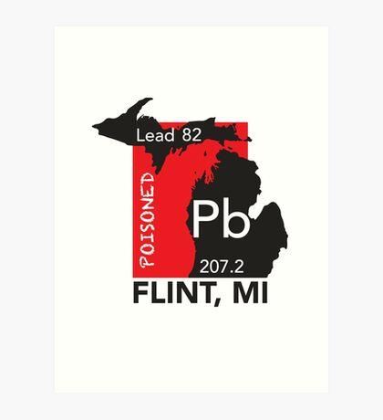 Poisoned Flint, MI Art Print