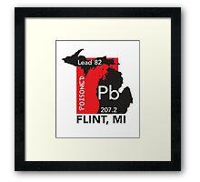 Poisoned Flint, MI Framed Print