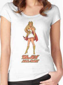 SLAY ALL DAY (Bey Version) Women's Fitted Scoop T-Shirt