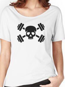 Crossed barbells skull Women's Relaxed Fit T-Shirt