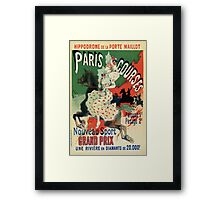 Paris horse races belle époque advert Jules Chéret Framed Print