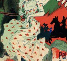 Paris horse races belle époque advert Jules Chéret Sticker