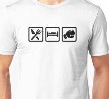 Eat sleep boxing Unisex T-Shirt