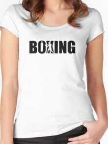 Boxing Women's Fitted Scoop T-Shirt