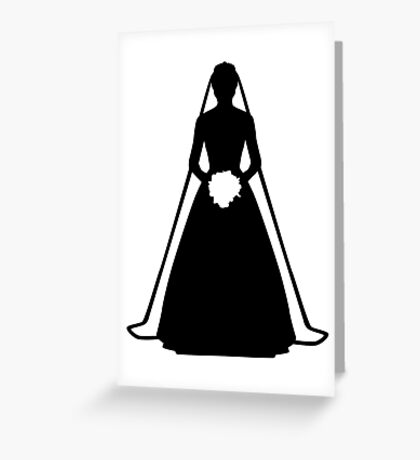 Bride dress Greeting Card
