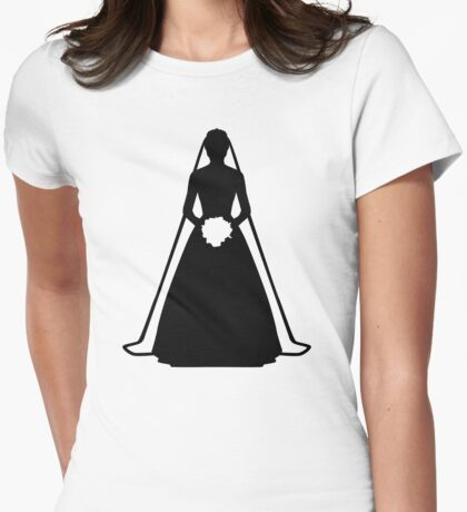 Bride dress Womens Fitted T-Shirt