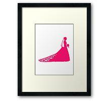 Bride dress Framed Print