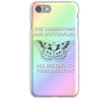 One Direction Harry Styles Butterfly Tattoo with Lyrics iPhone Case/Skin