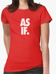 AS IF. - White Womens Fitted T-Shirt