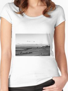 vineyard under the snow Women's Fitted Scoop T-Shirt